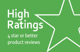High Product Ratings and Reviews