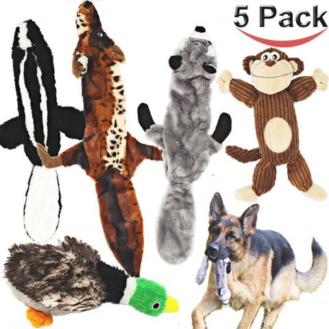 jalousie-5-pack-dog-squeaky-toys
